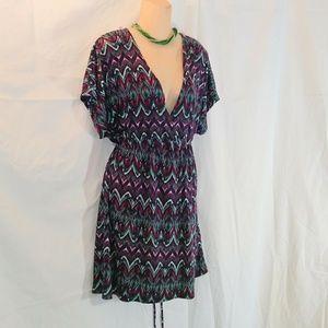 Faded Glory Low Cut Dress Sz 4X 26/28W NWOT